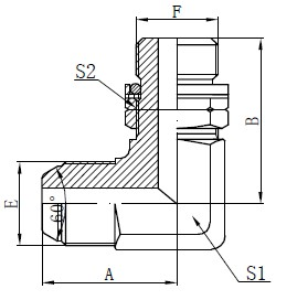 BSP O-Ring Drawing Adjustable Stud