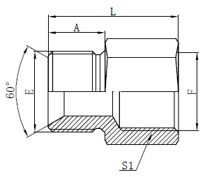 Adapters-Standard-Hose Adapters Drawing