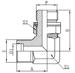 Adapters Adhesers of Elbow Hydraulic