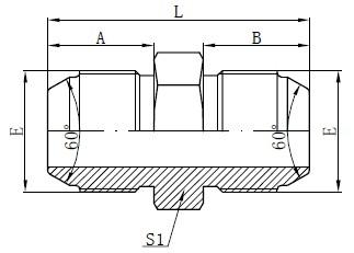 Adapters JIS Metric Male Drawers Drawing