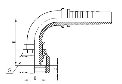 Drawing a Hose Hose Fitting