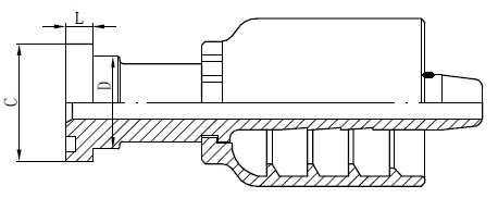 Draw Drawing SS Tube Connector