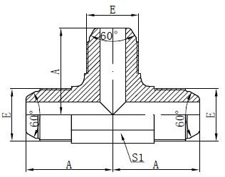 Daxuyaniya standard a AK Fitting Drawing